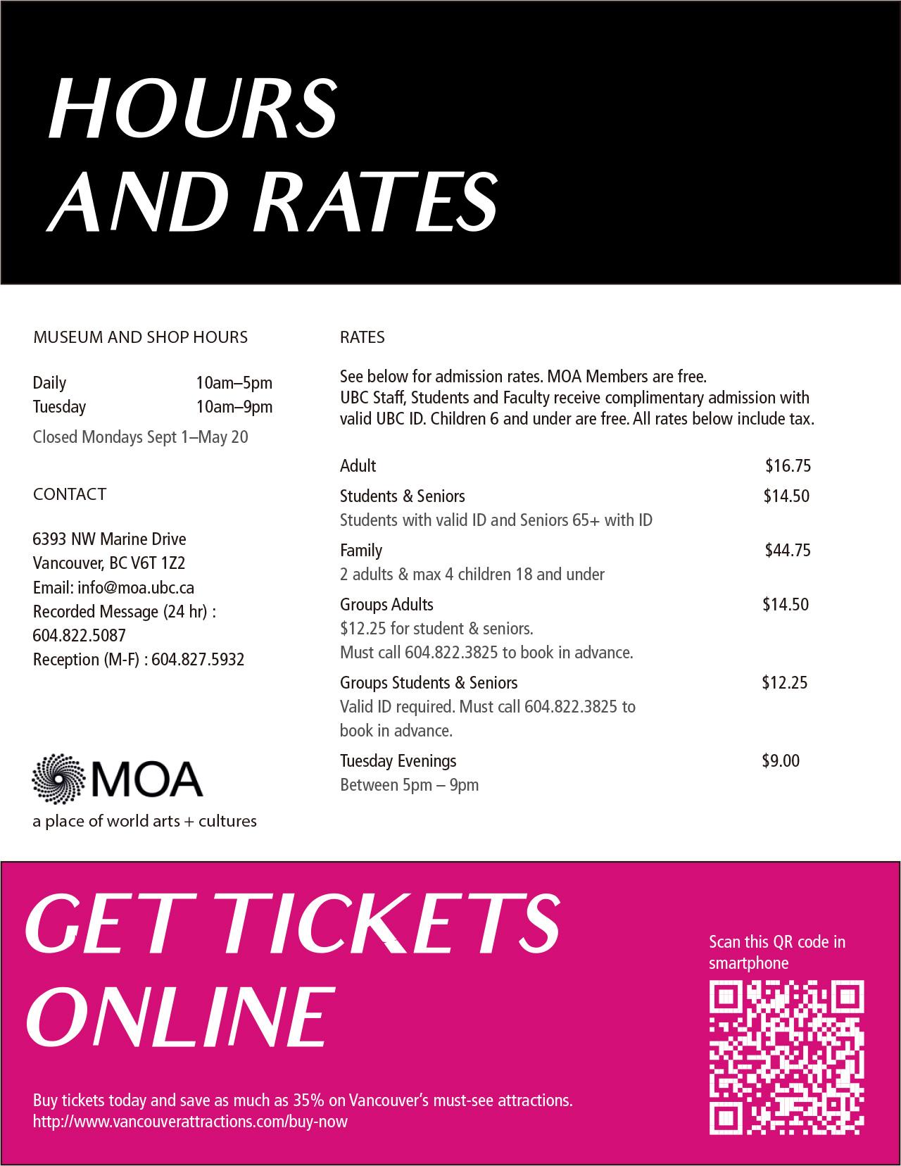 MOA rates
